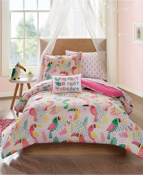 Mi Zone Kids Tutti The Toucan 6 Pc Twin Comforter Set Bedding Set