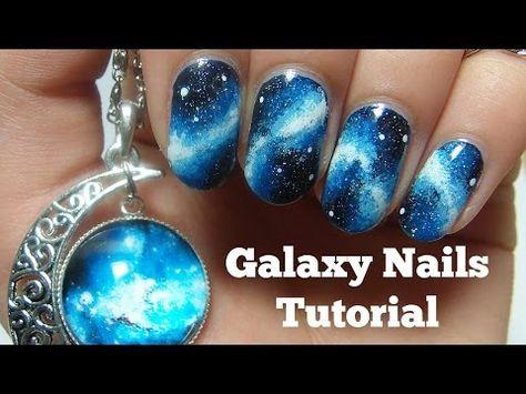 Galaxy nails (sans éponge // No sponge) - Facile // Easy (english sub) - YouTube