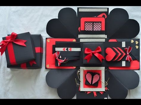 Valentines Day Exploding Box | DIY | Easy/Beginner Friendly - YouTube