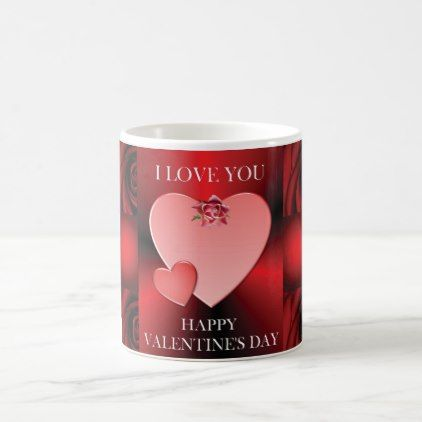 Valentine\'s Day with Hearts of Love Coffee Mug - Saint Valentine\'s ...