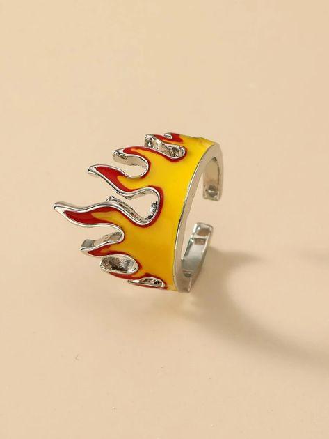 Flame Cuff Ring | ROMWE USA