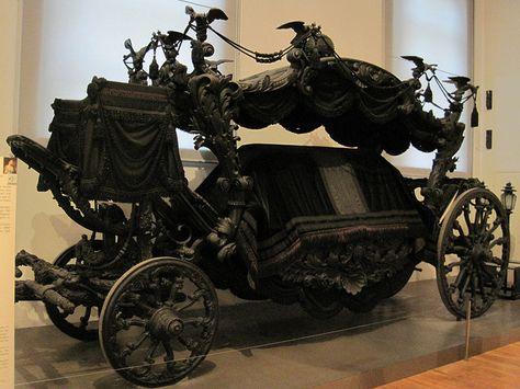 Royal Horse Drawn Hearse: The Black Hearse, built in 1876/7.  Just amazing.