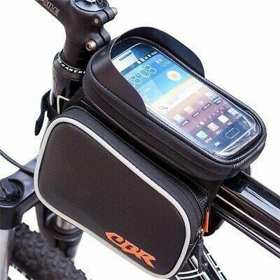 Bicycle Top Tube Phone Bag Bike Storage Bag for Max Phone Screen 6.2in with Waterproof Touch Screen Phone Case RilexAwhile Bike Bag
