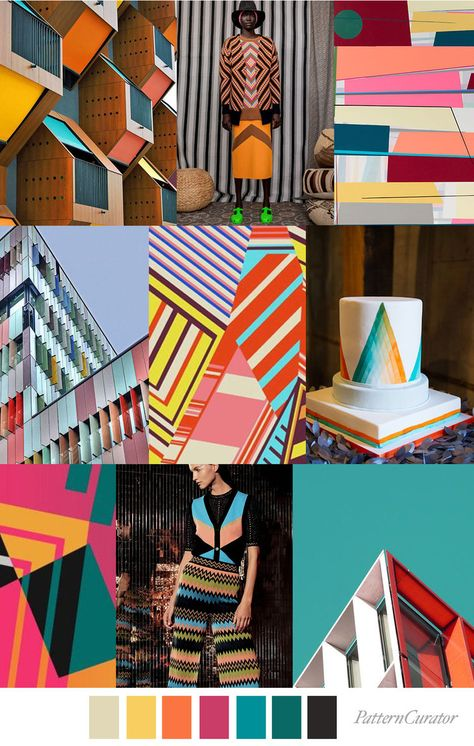 ANGLED FORMATION - color, print & pattern trend inspiration for FW 2019 by Pattern Curator. Pattern Curator is a trend service for color, print and pattern inspiration.