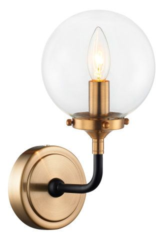 Single Light Glass Globe Wall Wall Sconces Ceiling Lights