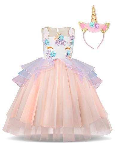 NNJXD Vestito da Principessa Aurora Vestito da Carnevale per Ragazze