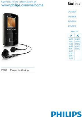 Manual De Instrucoes Do Mp3 Player Phillips Gogear Vibe Radios Musicas Mais Tocadas Usb