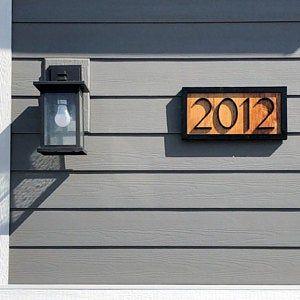 Cedar House Numbers Cedaraddress Sign Black House Numbers Address Plaque En 2020 Numero Maison Maison