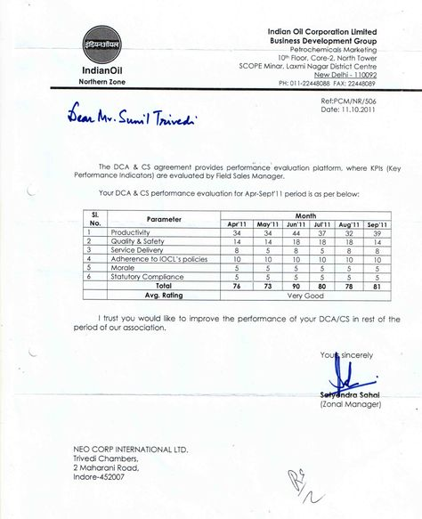Indian Oil Corporation Limited Iocl Awarded A Performance