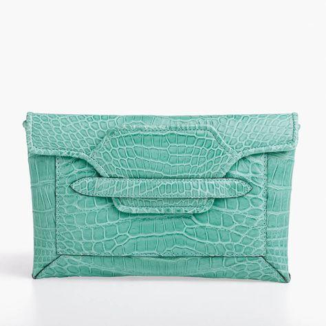 PARMEGGIANI BUSTINA COCCO TURCHESE #parmeggiani #BustinaCocco #turchese #turquoise #clutch #fashion #style #womenstyle #womenswear #MadeInItaly #handmade #crocodile #handbag #bag #shop #shopping #inArchivio #ArchivioStore