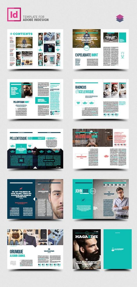 FREE InDesign PRO Magazine Template: Kalonice | GRAPHIC DESIGN ...