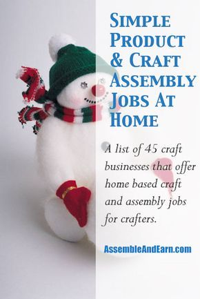 Simple Home Assembly Jobs - Assemble Products And Crafts At