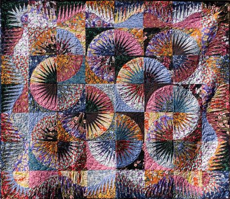 Japanese Fan ~ Quiltworx.com, made by Certified Instructor, Cindy Myers