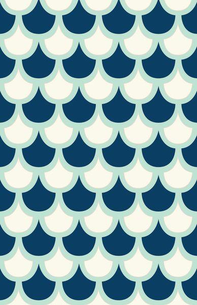 Scallop Pattern Art Print by Krysti Kalkman