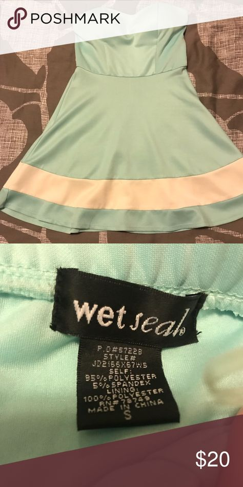 Light Teal Mini Dress Perfect for semi-formal events and weddings! Excellent quality. Wet Seal Dresses Mini