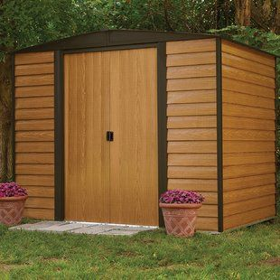 Outdoor Living Today Garden Chalet 4 Ft W X 2 Ft D Wooden Lean To Tool Shed Wayfair Metal Storage Sheds Steel Sheds Steel Storage Sheds