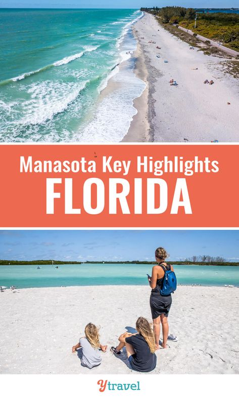 Looking for Florida vacation ideas? Consider Manasota Key on the Gulf Coast and put this list of things to do in Manasota Key on your Florida road trip itinerary. Think laid-back beautiful beaches, magic sunsets, fresha and delicious dining options! #Florida #beaches #travel #familytravel
