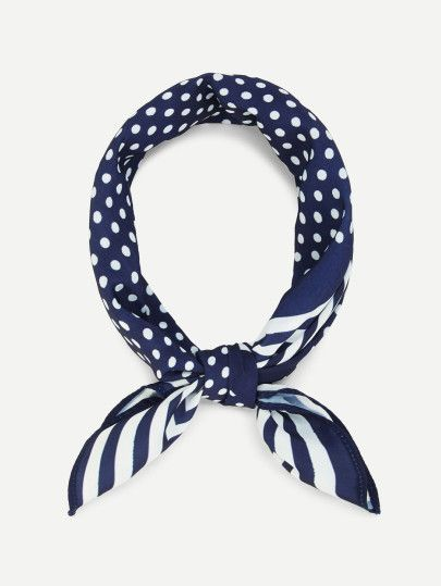 Polka Dot Striped Bandana -SheIn(Sheinside)