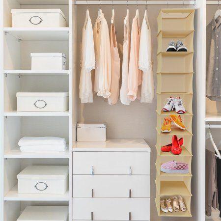 Hanging Shoe Organizer 10 Shelf Vertical Closet Storage For Heels
