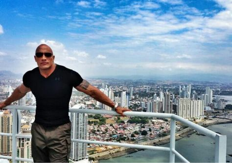 Dwayne Johnson - Central America ; Panama. Wrapping up his show The Hero coming soon to TNT.