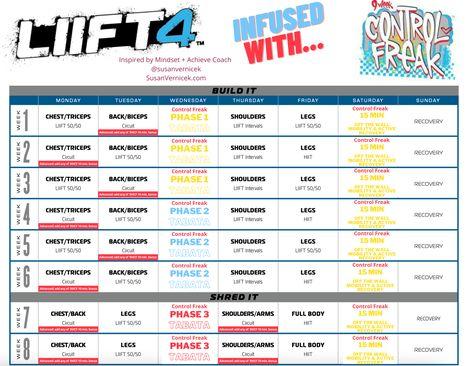 Liift4 + 9 Week Control Freak Hybrid Calendar