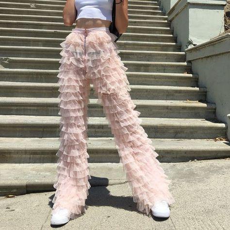 Fluffy ruffle pants listing for 🌹 - Depop