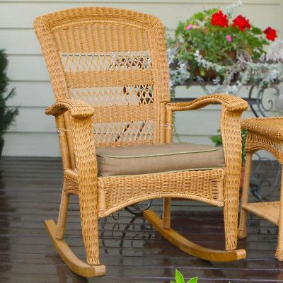 200 Outdoor Furniture Southwest Amber Resin Wicker Patio Rocker Free Shipping Seat 19 L X 5 W
