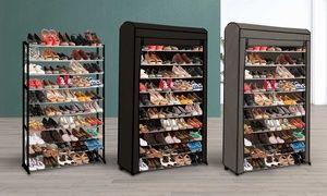 Etagere A Chaussures Pour 30 Ou 50 Paires Housse En Option Des 14 99 Jusqu A 60 De Reduction Etagere Chaussures Rangement Chaussures Housses