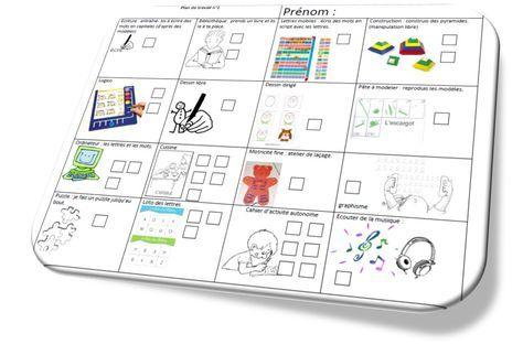 Maternelle Autonomie Plan De Travail Gs Maternelle Cahier De