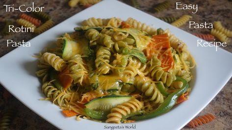 #rotinipasta #pastasalad #sangeetasworld