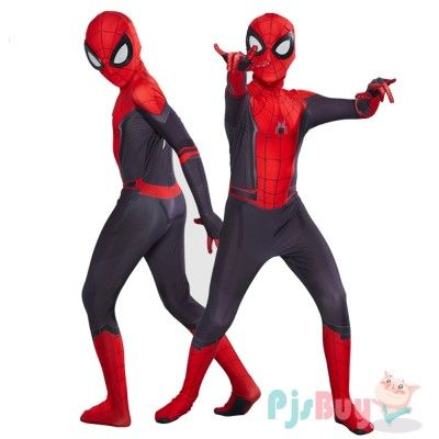 Spider-Man Costume Suit Far From Home Kids Cosplay Boys Spiderman Zentai Child