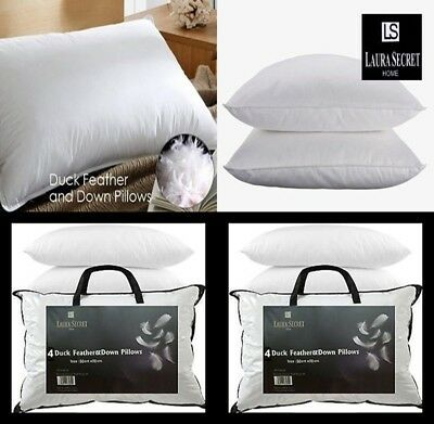 Luxury Duck Feather /& Down Pillow Comfortable Extra Filled Hotel Quality Pillows