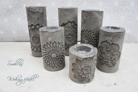 DIY concrete candle holder   Kerzenständer aus Zement Diy - klebefolien für küchenfronten