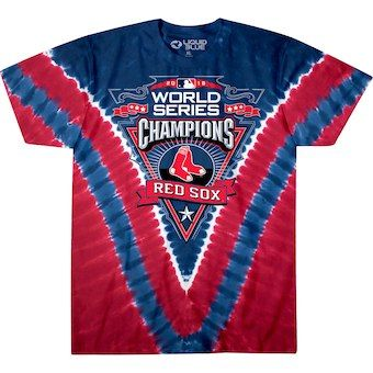 053370848 Men s Boston Red Sox Red 2018 World Series Champions V-Dye T-Shirt.   baseball  redsox