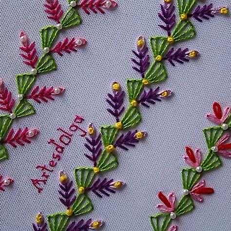 En este tutorial te muestro cómo bordar puntadas decorativas. (Tutorial No. 5). . . . . #artesdeolga #artesdolga #bordado #bordados #puntadas #decorativas #embroidery #diy #decorative #stitches