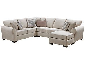 Pleasing Soho Ii Pearl 2 Piece Sectional With Right Arm Facing Chaise Inzonedesignstudio Interior Chair Design Inzonedesignstudiocom