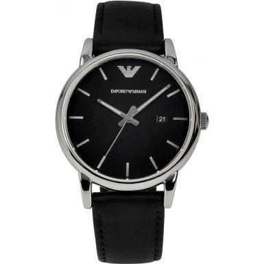 4806f066a05d9 Buy Emporio Armani AR1694 Men's Luigi Stainless Steel Watch, Black / White  Online at johnlewis.com | Watches | Armani watches, Giorgio armani watches,  ...