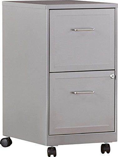 2 Drawer Office Mobile Vertical Lock Locking File Filing Cabinet With Casters Metal Construction Multiple Color Options Filing Cabinet Zipcode Design Drawers
