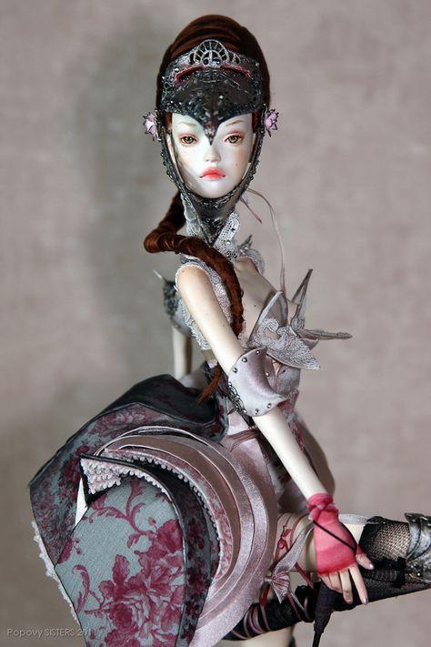 Garter - Popovy Sisters   Art dolls, Ooak art doll