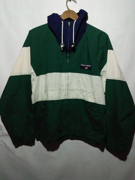 61c26200a298 VINTAGE 90s POLO sport jacket sweater windbreaker
