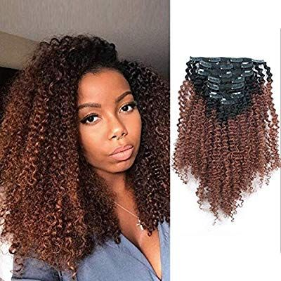 Amazon Com Amazingbeauty 3c 4a Big Afro Curly Ombre Hair