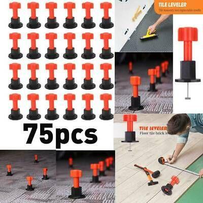 Sponsored Ebay 75pcs Set Reusable Tile Leveling Positioning System Leveler T Lock Floor Tool Locking Flooring Tiles Flooring