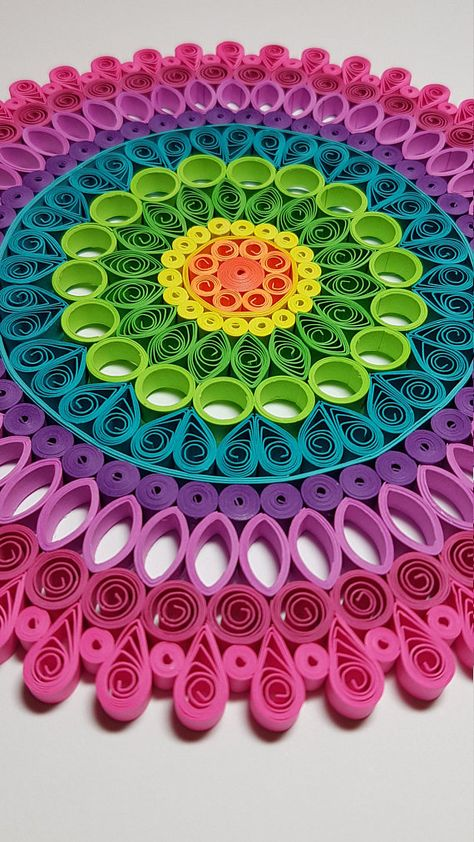 Each piece is crafted using hand-cut strips of paper that are shaped then glued together over a number of hours then mounted onto a cardstock/mat board. This form of artwork is called paper quilling or paper filigree. All pieces are made with love and passion and makes a great addition