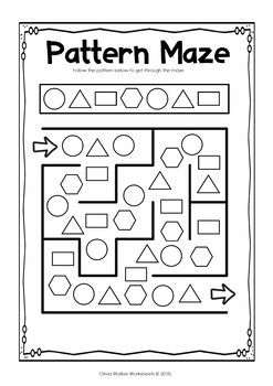 Patterns Copy Create And Complete The Pattern Kindergarten And