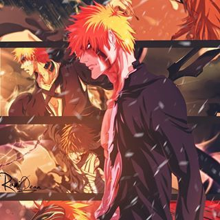 Ichigokurosaki Bleach Anime Art Design Wallpaper Painting Japan انمي تصاميم تصاميم انمي بليتش ايتشيغو رسم خلف Bleach Figures Anime Titles Anime