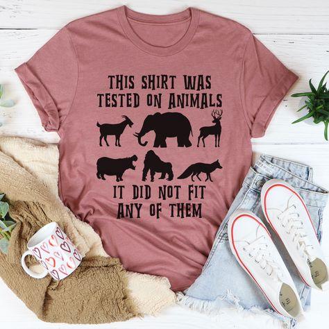This Shirt Was Tested On Animals Tee #fashion #stylish #itsallgood #casuallook #liketoknowitstyle #thatssodarling #momadvice #homeschoolmama #women #millennialmom