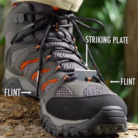 Outdoor Survival Emergency Shoelaces Fire Starter Paracord Laces Hiking Gear