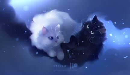 Timeless By Apofiss Black Cat Anime Cats Illustration Cat Artwork