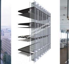Source Pre Glazed Double Skin Unitized Glass Facade Curtain Wall