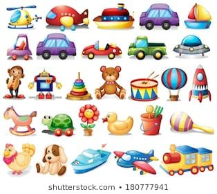 Illustration Of The Collection Of Toys On A White Background Desenho De Brinquedos Clipart Bebe Pintura Para Criancas